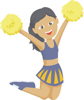 Free Cheerleading Clipart .