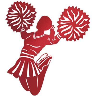 Free cheerleading pom poms clipart .
