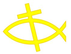 Free Christian Cross Clip Art | Free Christian Clip Art: Christian Cross and Fish Symbol