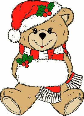 free christmas background clipart | Free Christmas Animal Clipart - Public Domain Christmas clip art .