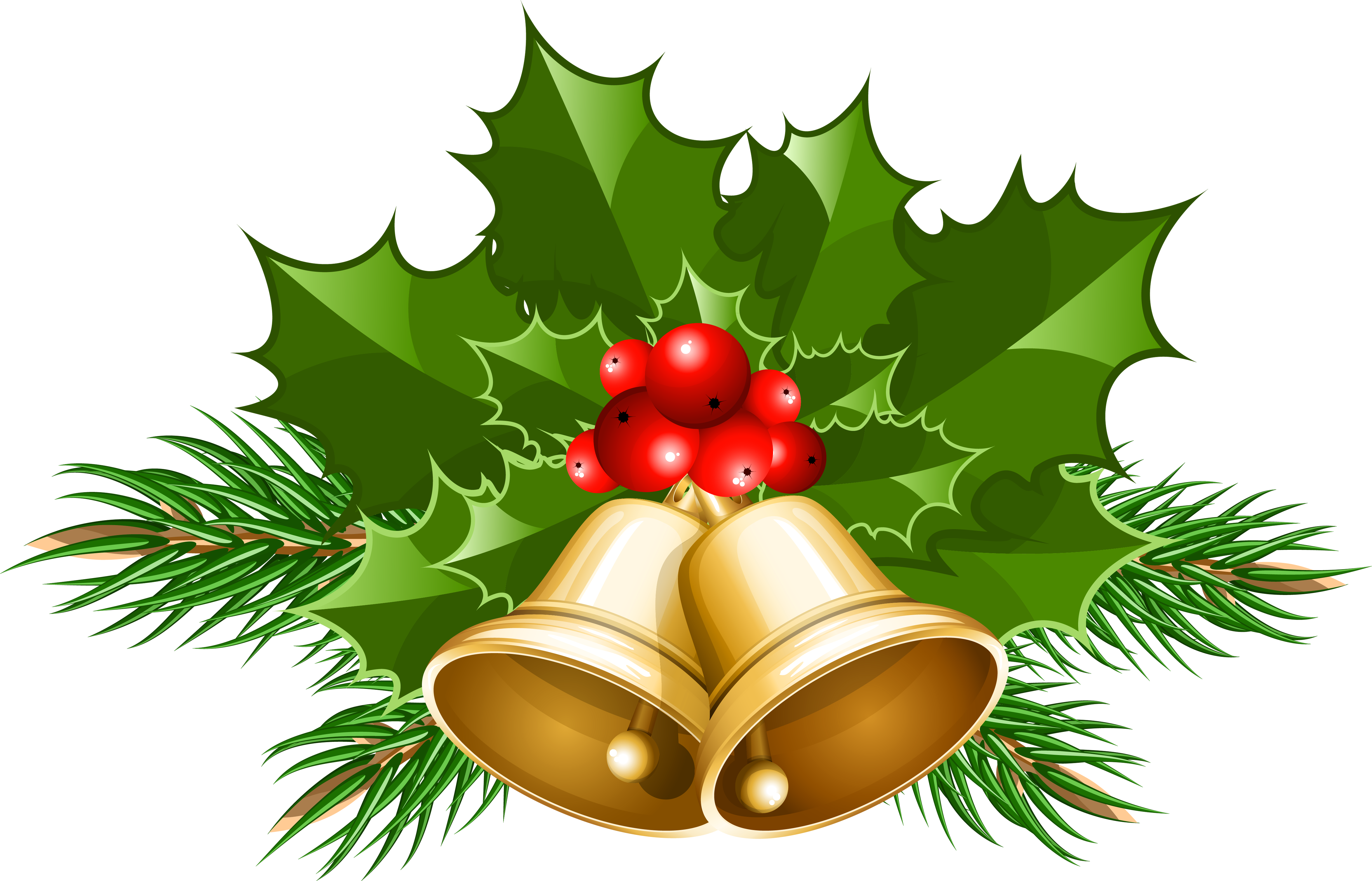 Free Christmas Bell Clipart. Large Transparent Christmas .