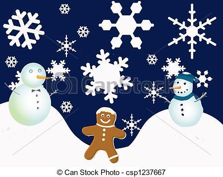 free christmas border clip art ... Winter Holiday Scene - .