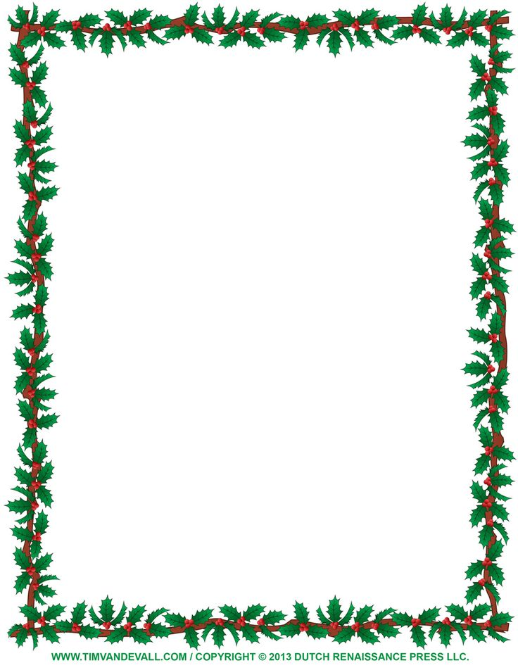 free christmas borders to print | christmas-clipart-borders-Holly-Border.