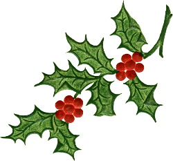 ... Free Christmas Clip Art Holly - Free Clipart Images ...