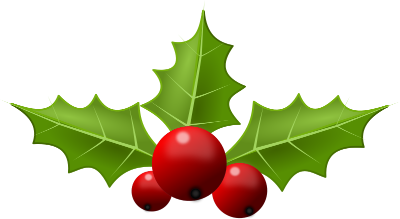 Free Christmas Clip Art Holly Free u0026middot; christmas Holly5 Png