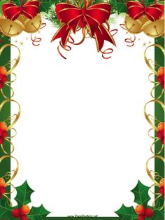 Free christmas clipart borders .-Free christmas clipart borders .-6