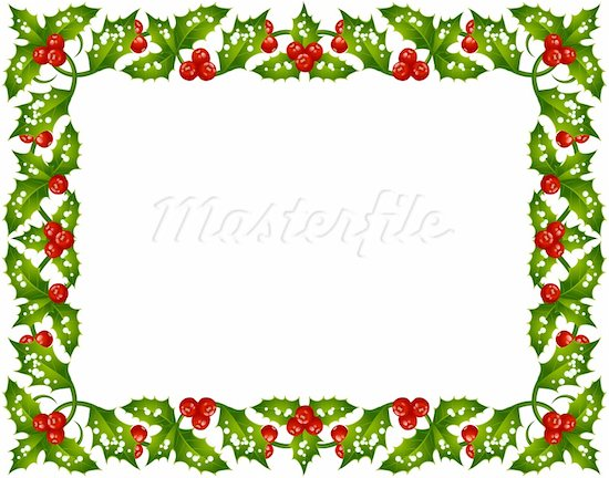 free christmas clipart frames - Holly Clipart Border