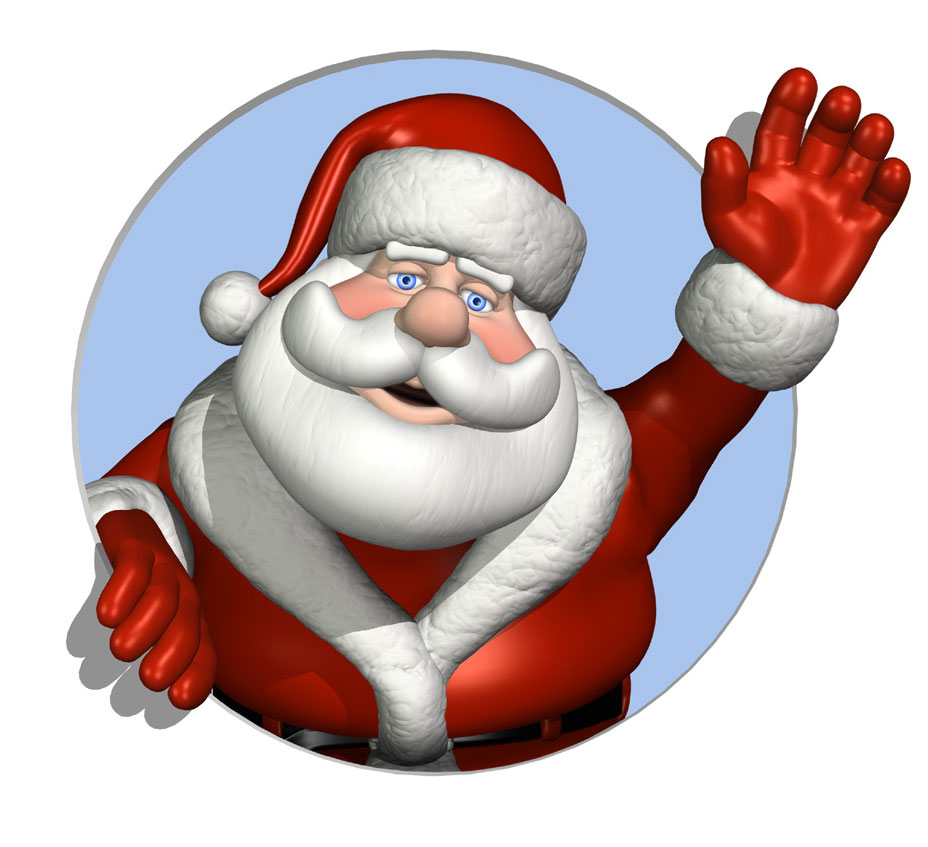 Free christmas clipart santa .