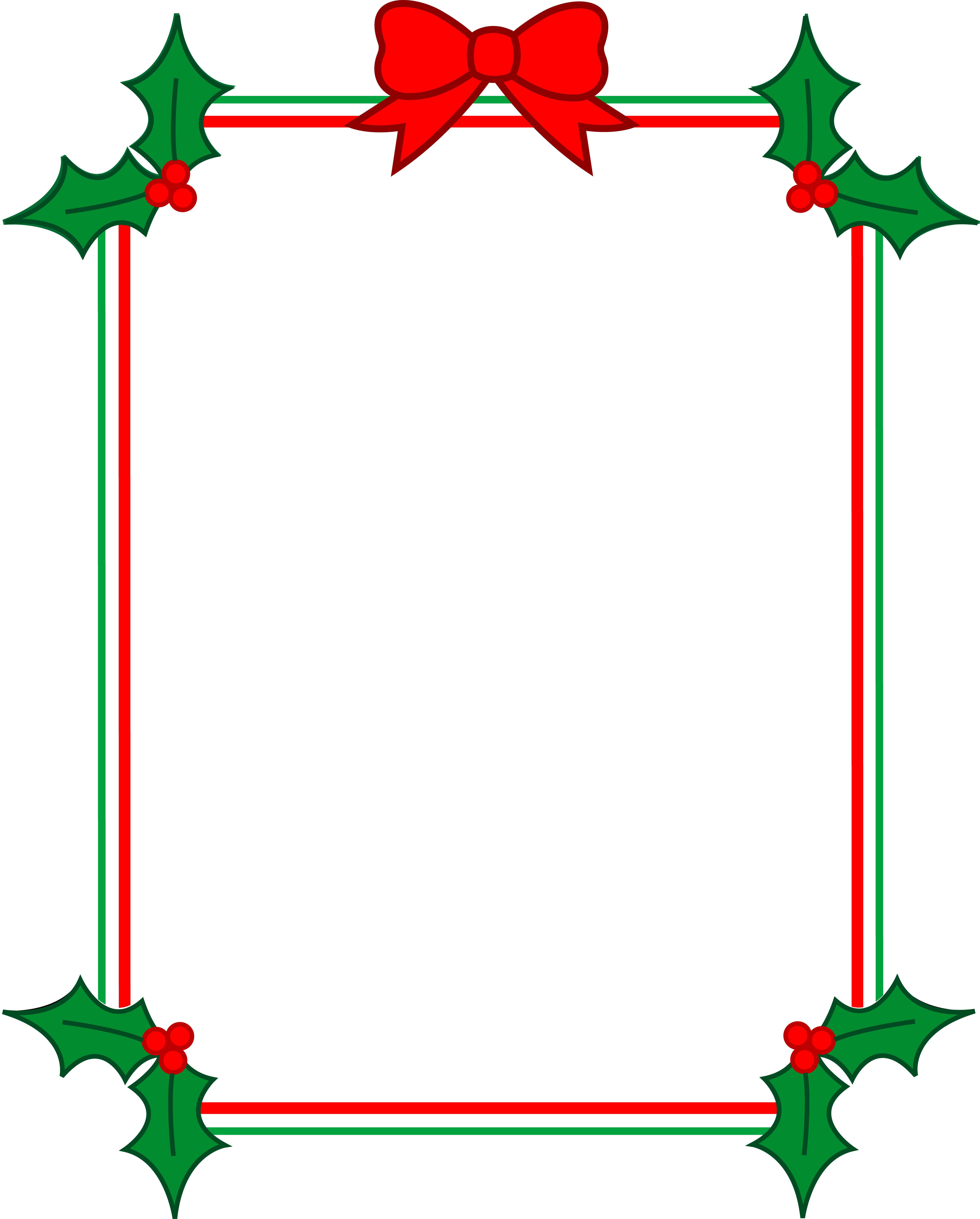 Free Christmas Holiday Clip Art Borders Free