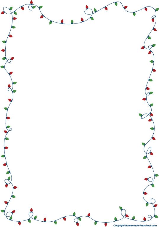 Free christmas lights borders clip art