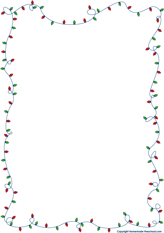 Free christmas lights clipart .