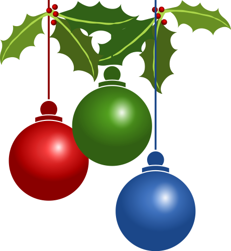 Free Christmas Ornaments . - Free Christmas Clip Art Transparent Background