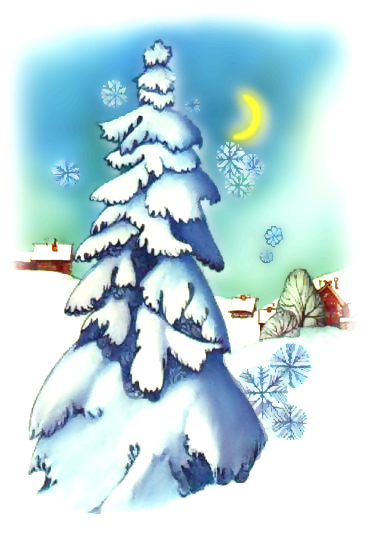 Free Christmas Scenes Clipart