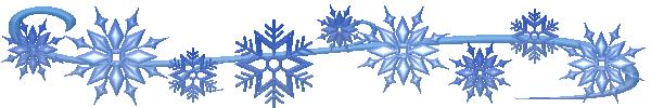 Free Snowflake Border Clipart