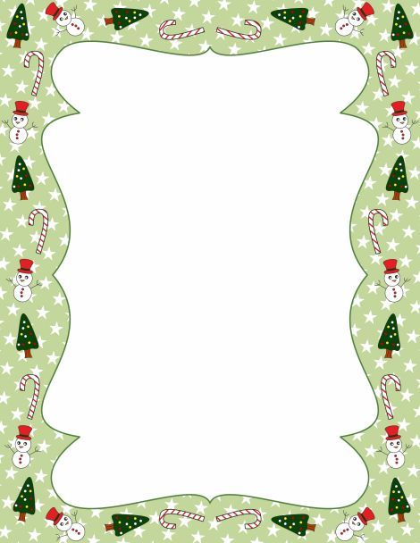 free christmas tree border templates including printable border paper and clip art versions file formats