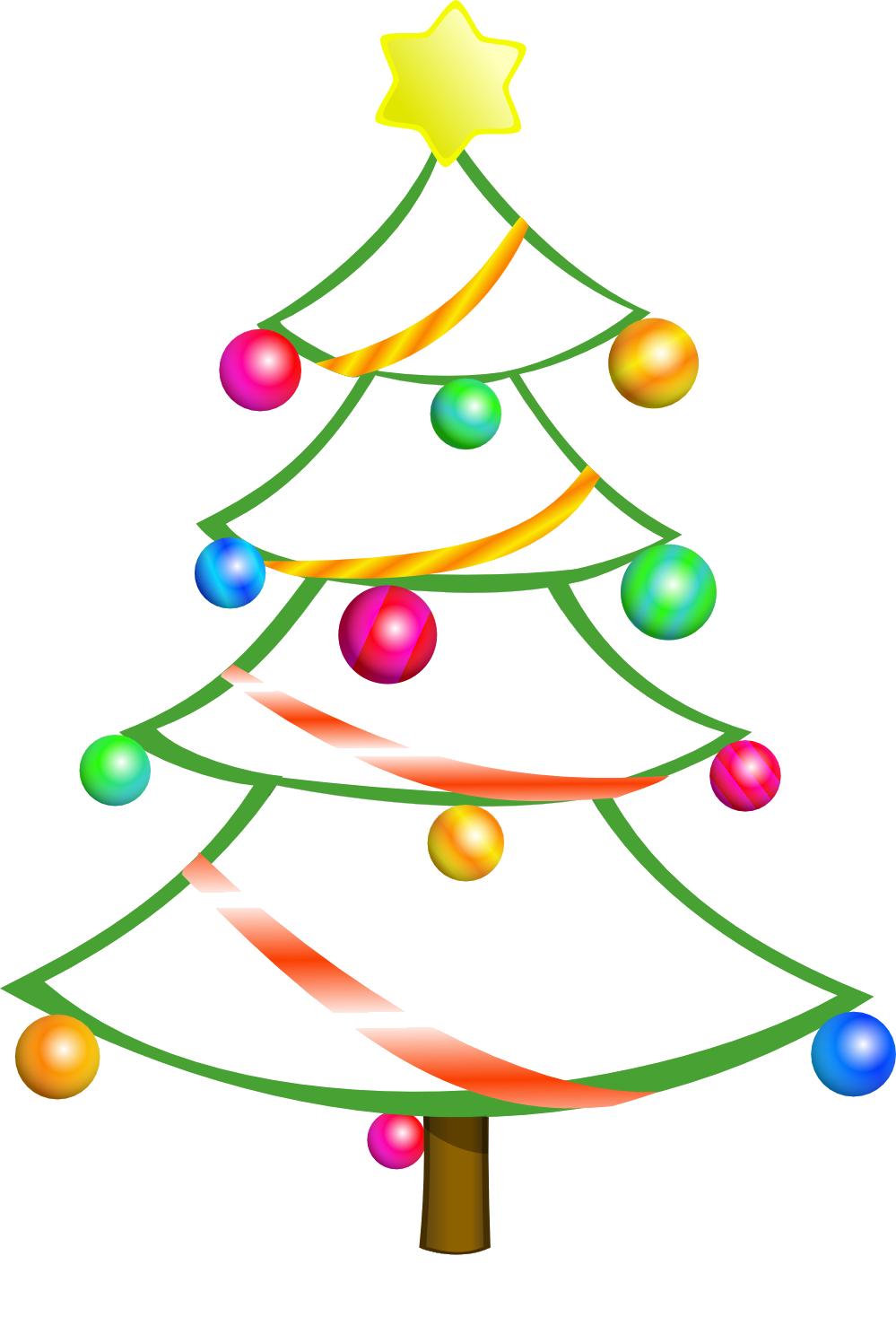Free Christmas Tree Clip Art Borders | Clipart library - Free