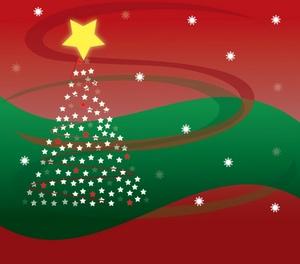 Free Christmas Tree Clip Art Image: Chri-Free Christmas Tree Clip Art Image: Christmas Background Graphic with Snowflakes and Christmas Tree-7