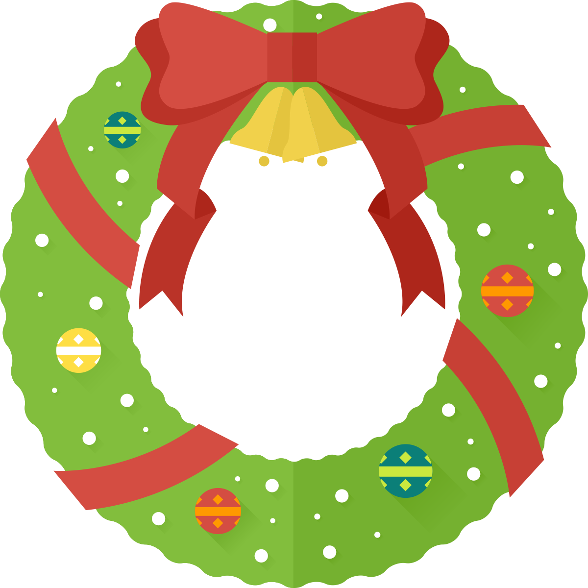 Free Christmas Wreath Clip Art