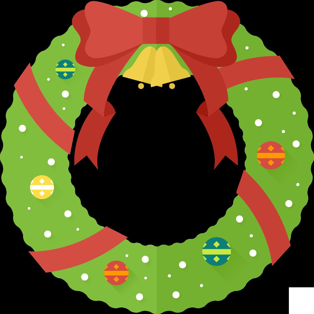 Free Cartoon Christmas Wreath