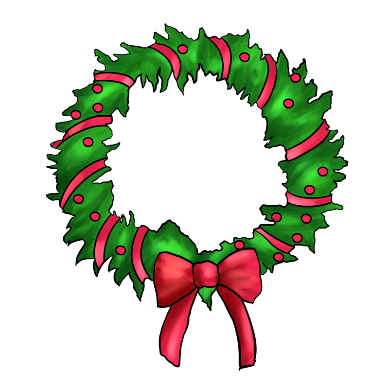 Free Christmas Wreath Clip Ar - Christmas Wreath Clipart