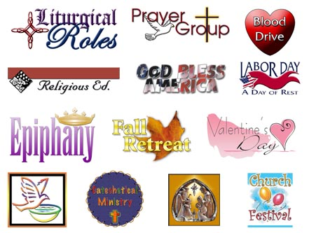 Free Church Bulletin Covers Clip Art