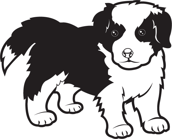 Free Clip Art Animals Pets Border Collie-Free Clip Art Animals Pets Border Collie Puppy-1