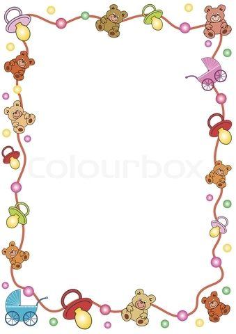 Free Clip Art Baby Borders | Stock Vecto-Free Clip Art Baby Borders | Stock vector of u0026#39;border, baby, dummyu0026#39;-15