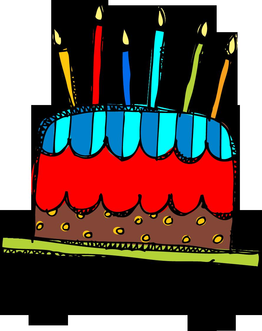Free Clip Art Birthday Cake - .