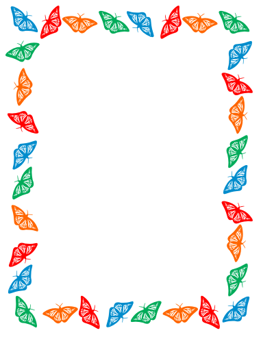 ... Free Clip Art: Butterfly border clipart ...