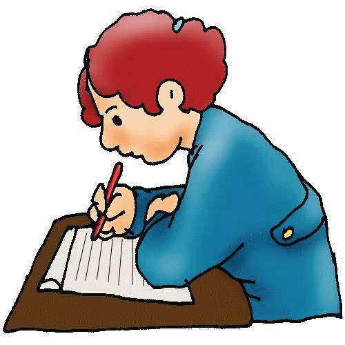 Free clip art children writing free clipart images 2