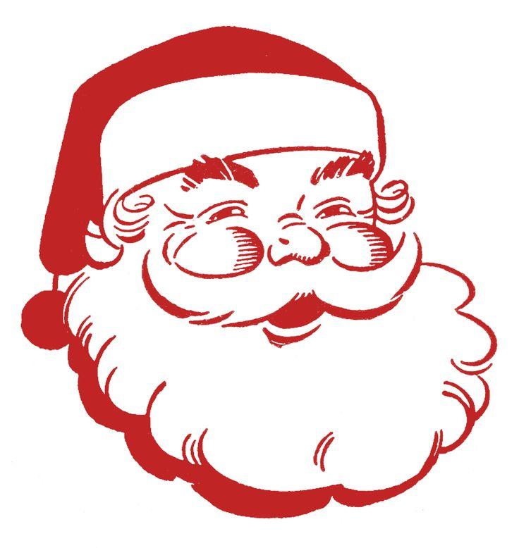 Free Clip Art Christmas Decorations | Retro Christmas Clip Art - Jolly Santa - The Graphics