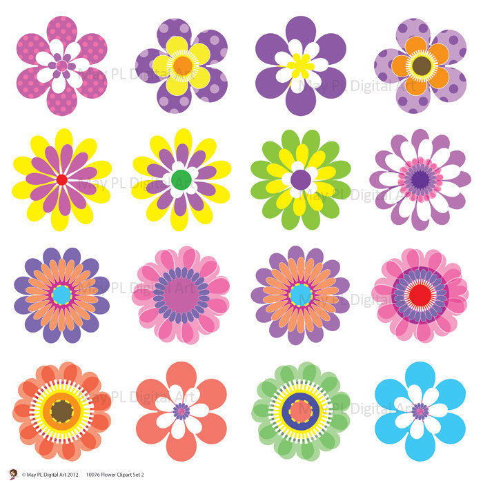 free clip art flowers - Flower Clip Art Free