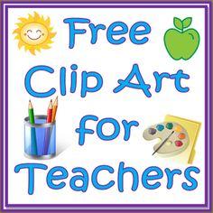 Free Clip Art for Teachers!