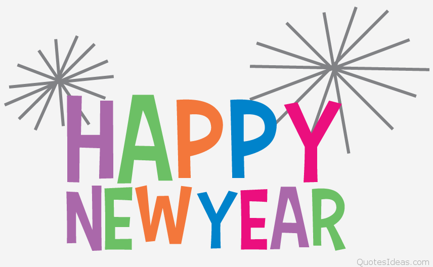 Free clip art Happy new year .