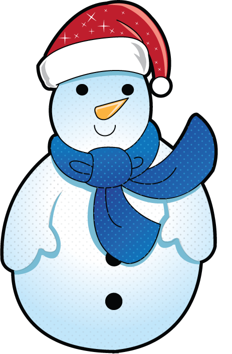 Free Clip-Art: Holiday Clip-Art » Christmas » Mini Frosty the Snowman
