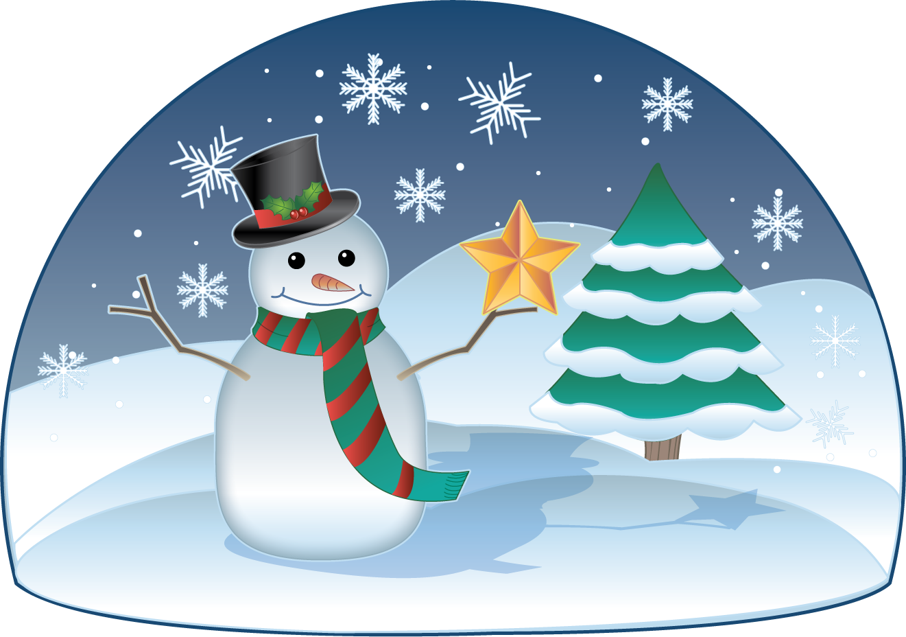 Free Clip Art Holiday Clip Art Christmas Snowman In Winter