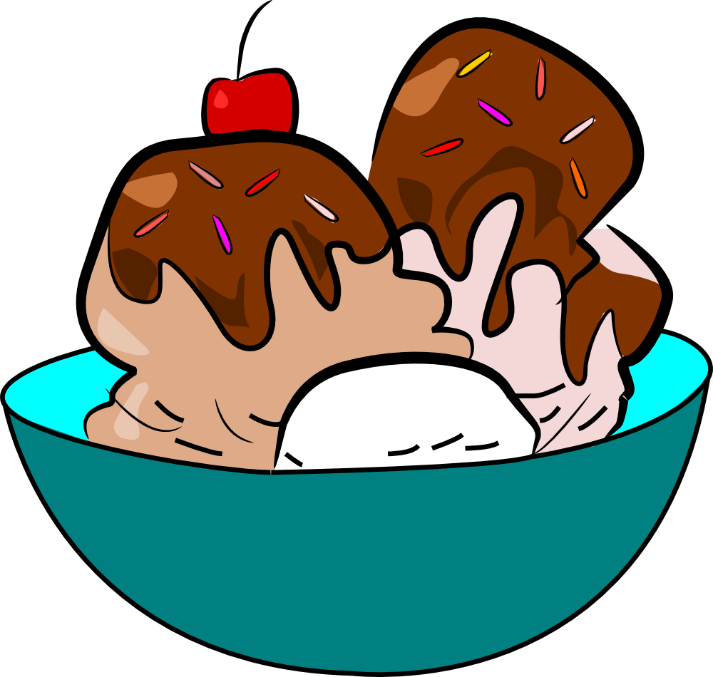Free Clip Art Ice Cream Sunda - Ice Cream Sundae Clipart