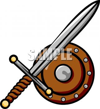 Free Clip Art Illustration . - Weapons Clipart