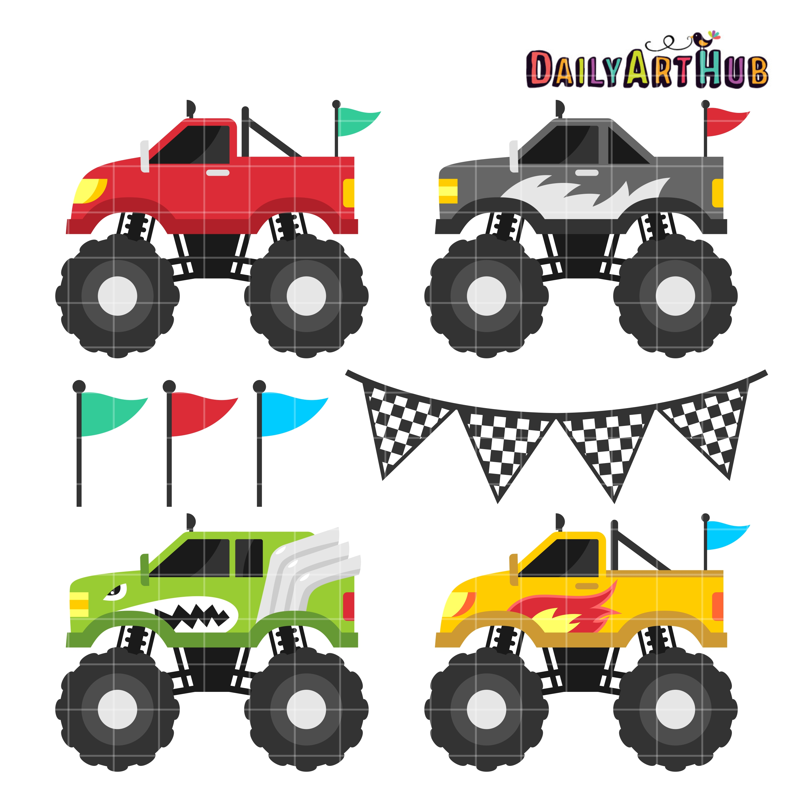 Free clip art of monster trucks-Free clip art of monster trucks-15