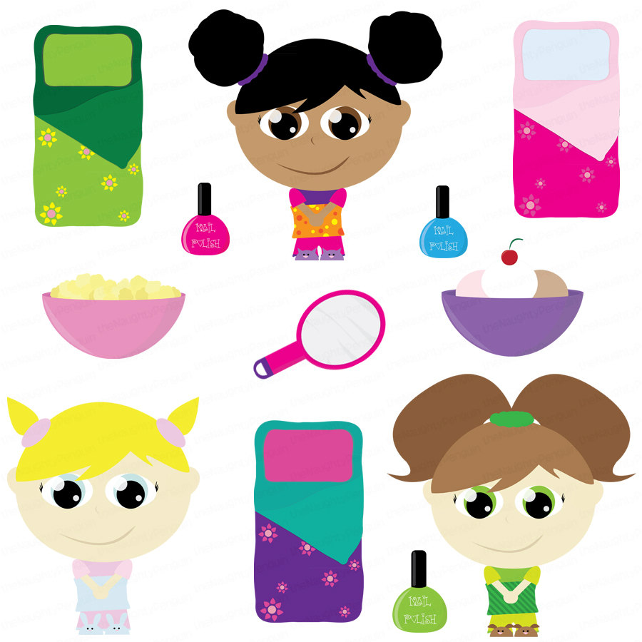 Free Clip Art Slumber Party-Free Clip Art Slumber Party-13