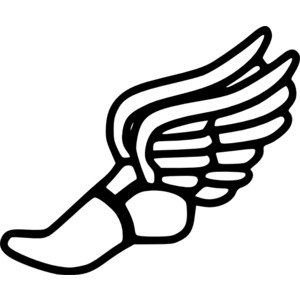 Free clip art tennis shoe .