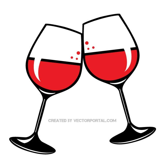 free clip art wine glasses .