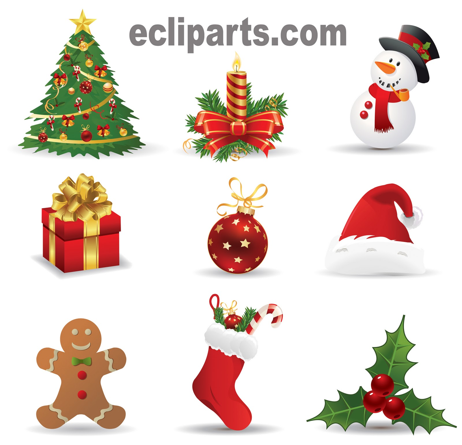 free clip arts happy Christma - Free Christmas Clipart Images