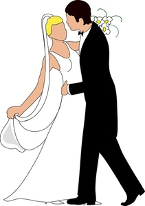 Free clipart bride and groom clipart