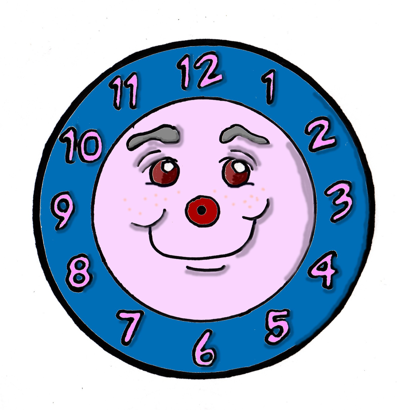 Free clipart clock face - .