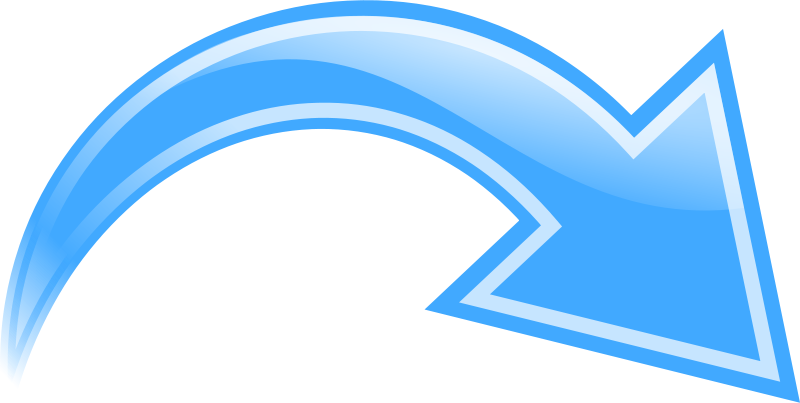 Free Clipart: Curved Arrow, .
