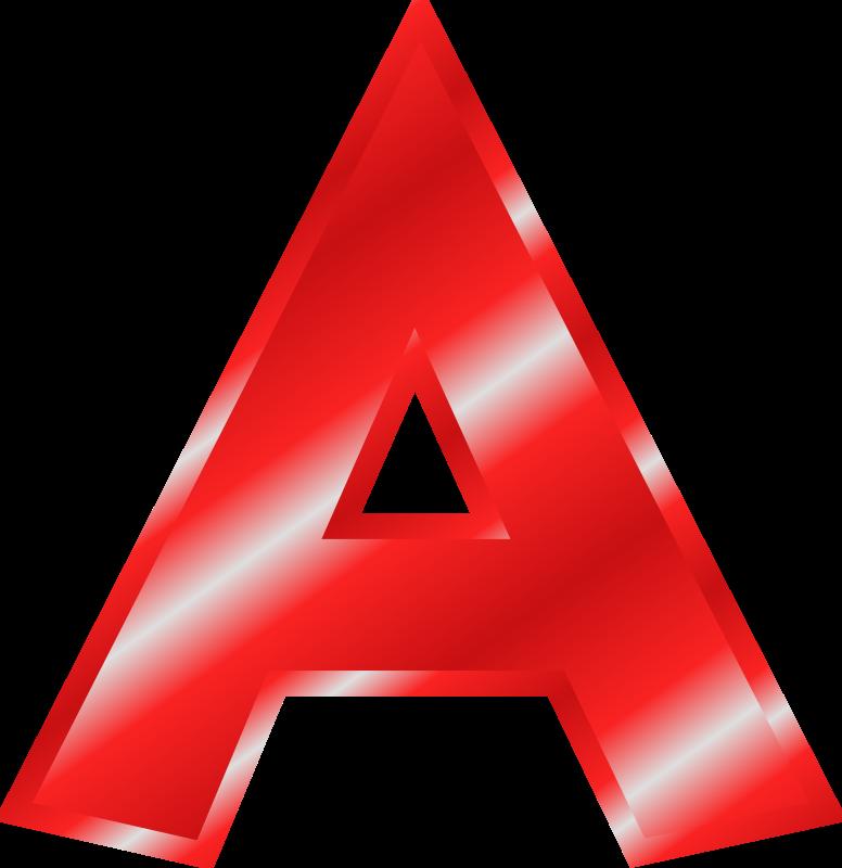 Free Clipart: Effect Letters  - Letter A Clip Art