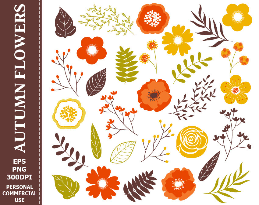free clipart fall flowers clipartfox
