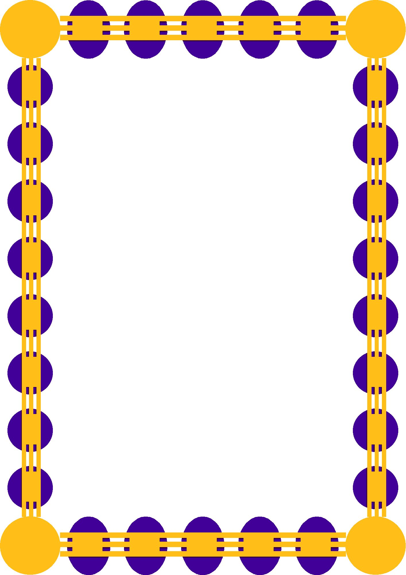 Free clipart frames and page borders clipart image