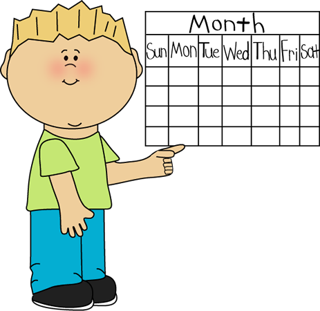 Free Clipart Images Calendar. School Kid Calendar Classroom .